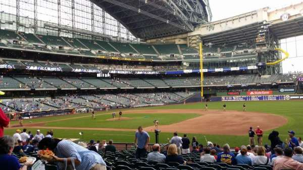 Miller Park, section: 111, row: 15, seat: 17