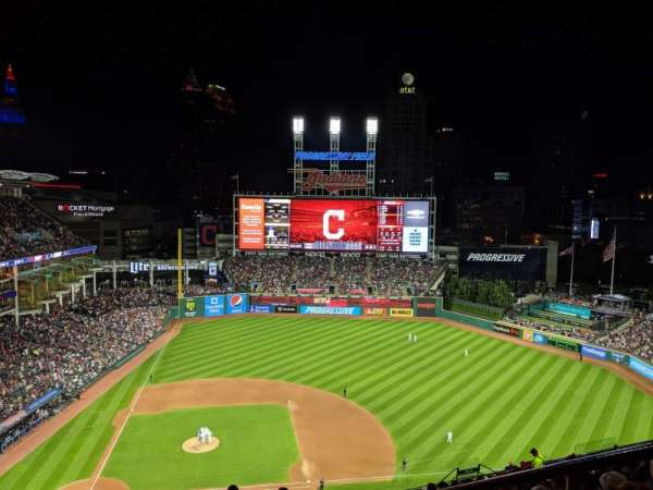 Progressive Field, section: 548, row: W, seat: 2