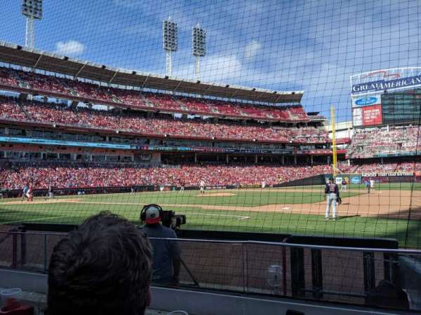 Great American Ball Park, section: 131, row: G, seat: 2