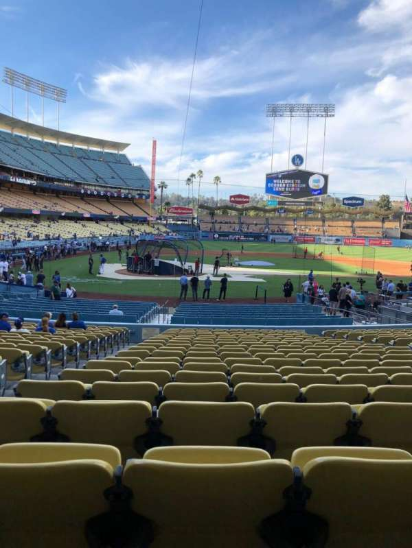 Dodger Stadium, section: 10FD, row: U, seat: 3