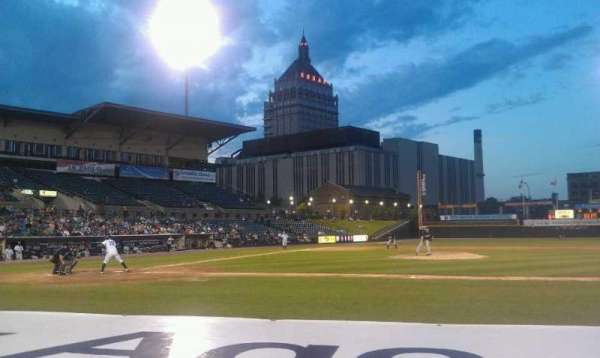 Frontier Field, section: 108, row: F, seat: 3