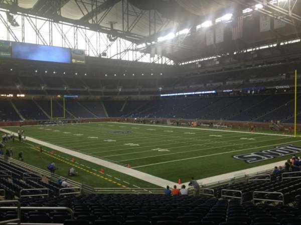 Ford Field, section: 112, row: 22, seat: 4