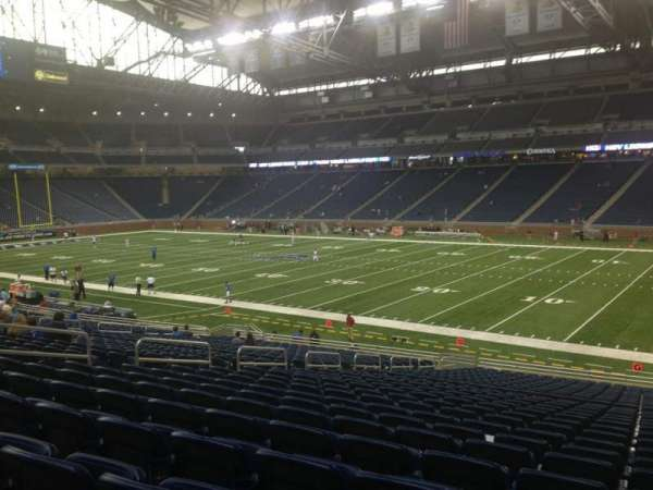 Ford Field, section: 110, row: 29, seat: 13