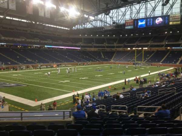 Ford Field, section: 100, row: 24, seat: 7