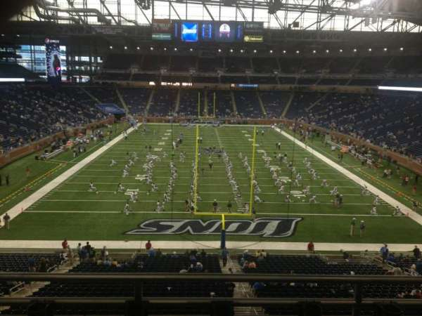 Ford Field, section: 218, row: 3, seat: 9