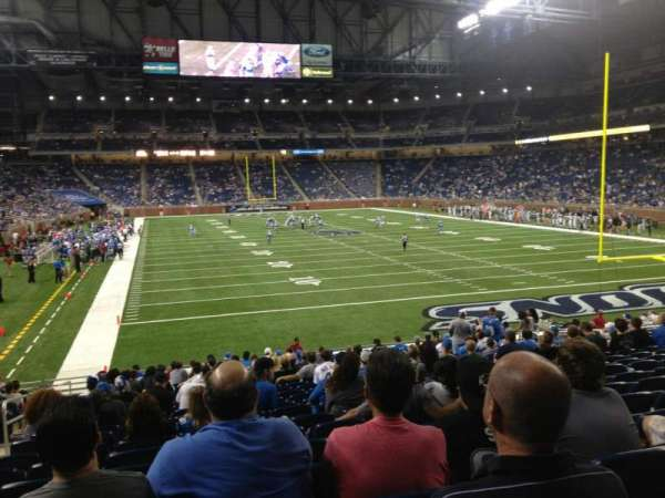 Ford Field, section: 115, row: 21, seat: 3
