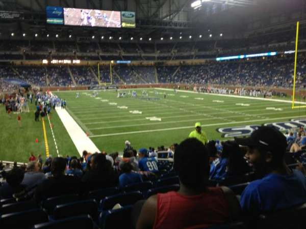 Ford Field, section: 114, row: 21, seat: 11