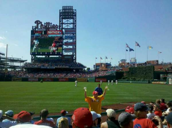 Citizens Bank Park, section: 111, row: 8, seat: 7