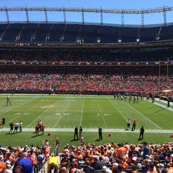 Empower Field at Mile High Stadium, section: 102, row: 25, seat: 9
