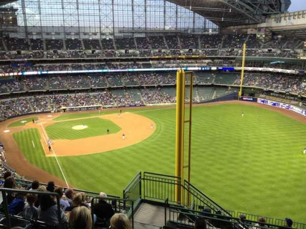 Miller Park, section: 404, row: 15, seat: 4