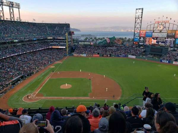 Oracle Park, section: VR308, row: 8, seat: 8