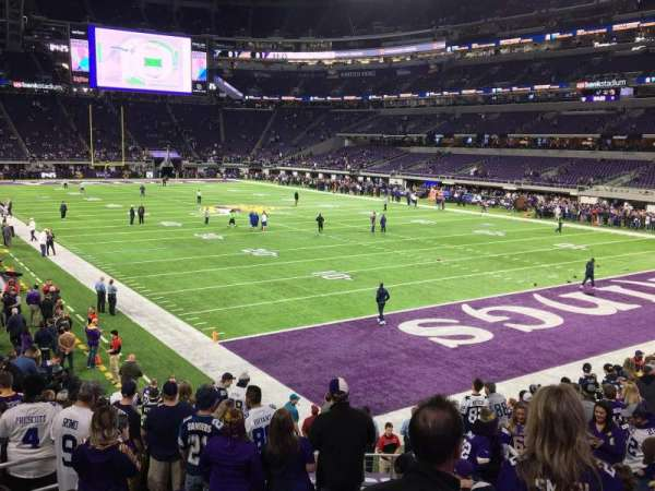 U.S. Bank Stadium, section: 101, row: 15, seat: 25 and 26