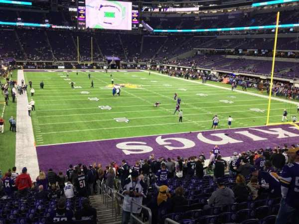 U.S. Bank Stadium, section: 101, row: 21, seat: 1 and 2