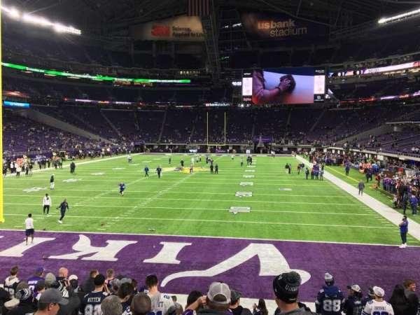 U.S. Bank Stadium, section: 140, row: 10, seat: 17