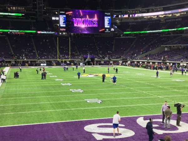U.S. Bank Stadium, section: 143, row: 8, seat: 20