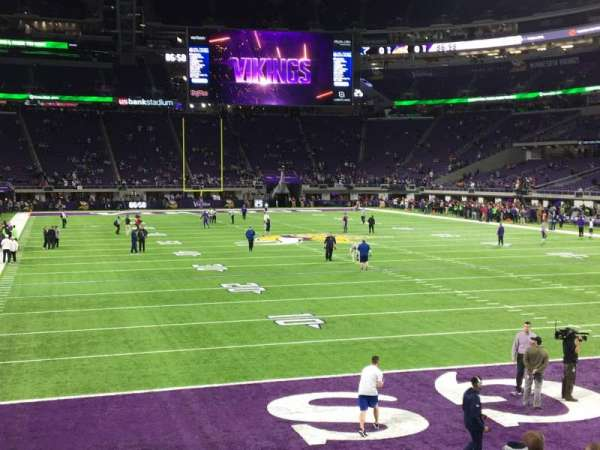 U.S. Bank Stadium, section: 143, row: 11, seat: 21