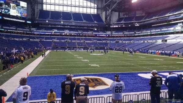 Lucas Oil Stadium, section: 102, row: 9, seat: 15