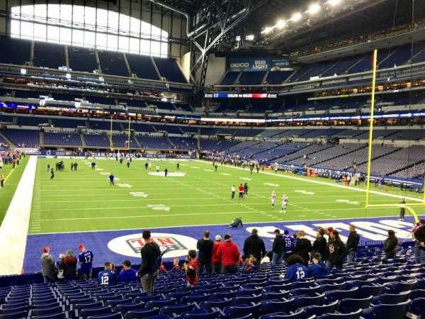 Lucas Oil Stadium, section: 102, row: 18, seat: 15