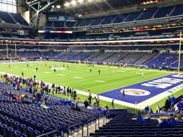 Lucas Oil Stadium, section: 105, row: 25, seat: 25
