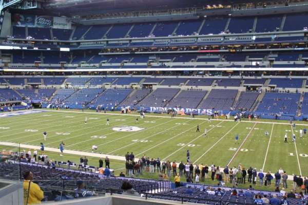 Lucas Oil Stadium, section: 210, row: 6, seat: 13