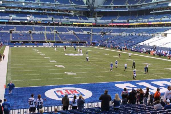 Lucas Oil Stadium, section: 102, row: 27, seat: 16