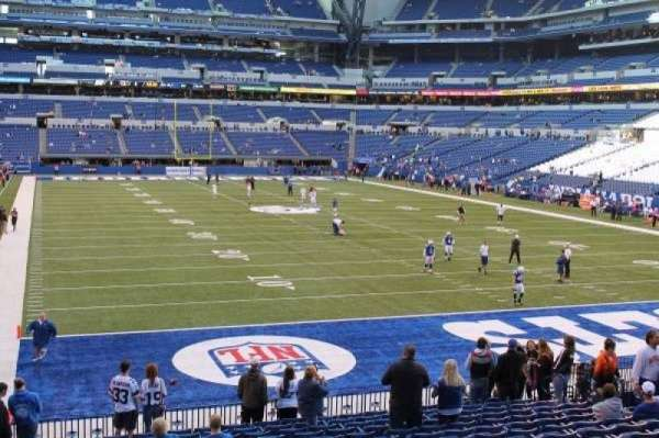 Lucas Oil Stadium, section: 102, row: 20, seat: 17