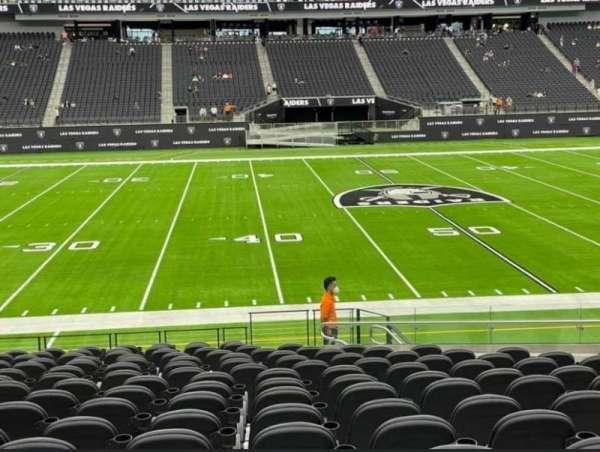Allegiant Stadium, section: C113, row: 17, seat: 11