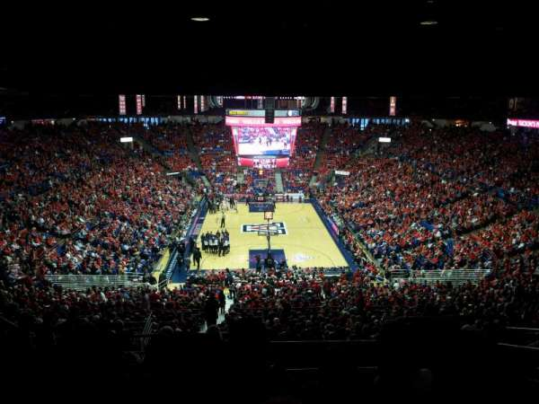 McKale Center, section: UP 121, row: 38, seat: 16