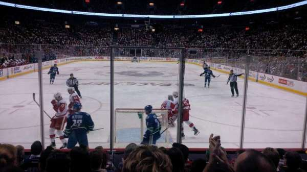 Rogers Arena, section: 111, row: 8, seat: 110
