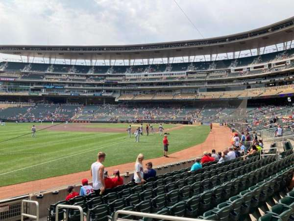 Target Field, section: 126, row: 9, seat: 3