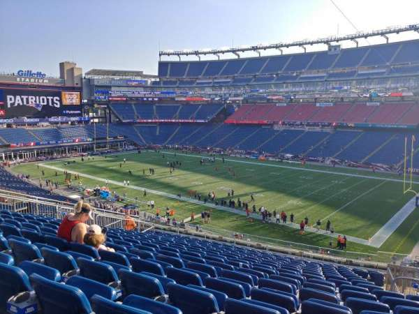 Gillette Stadium, section: 205, row: 17, seat: 5