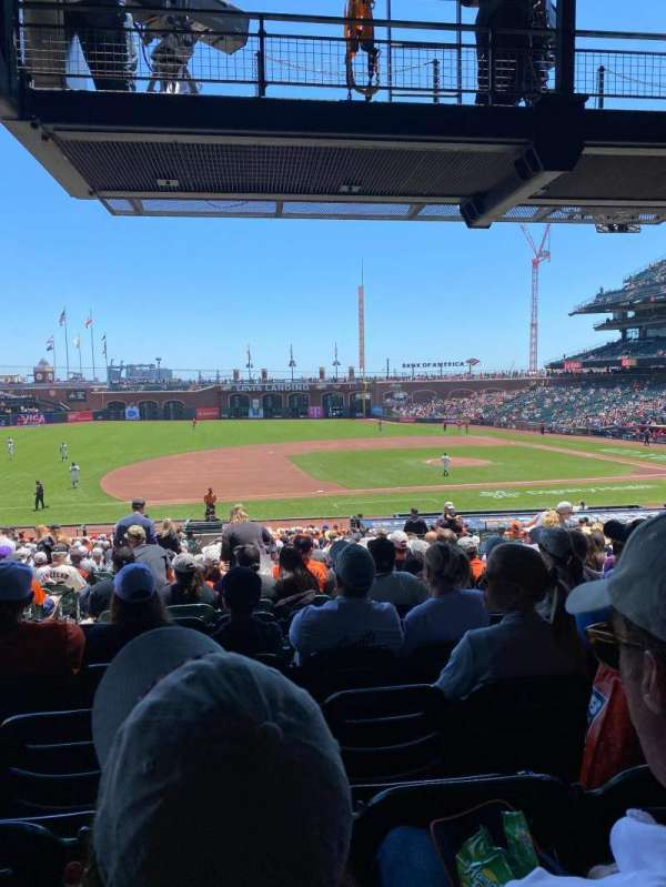 Oracle Park, section: 124, row: 34, seat: 14