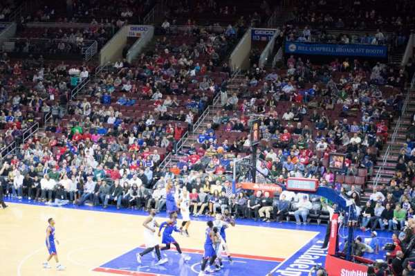 Wells Fargo Center, section: CB2, row: 2