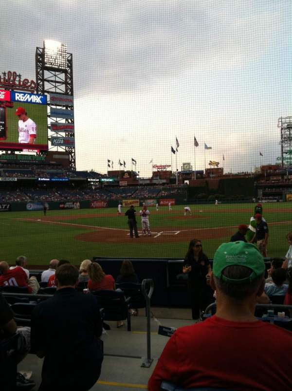 Citizens Bank Park, section: E, row: 2