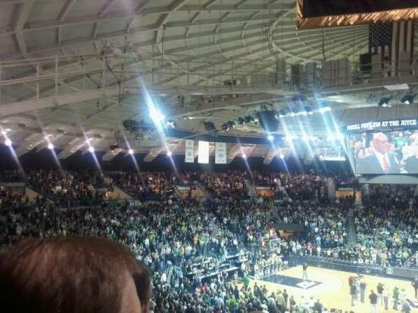 Joyce Center, section: 109, row: 12, seat: 15
