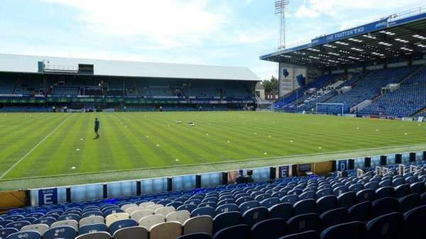 Fratton Park, section: NLE, row: K, seat: 113