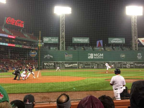 Fenway Park, section: Field Box 38, row: B, seat: 3