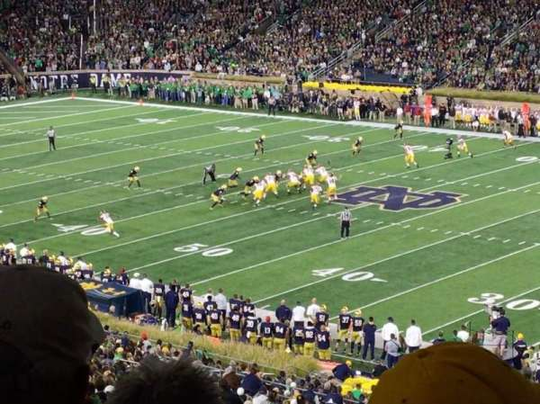 Notre Dame Stadium, section: 125, row: 7, seat: 11