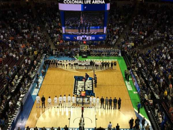 Colonial Life Arena, section: 215, row: 11, seat: 9