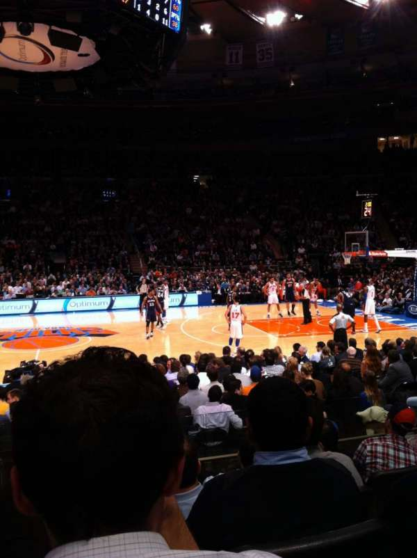 Madison Square Garden, section: 117, row: 6, seat: 12