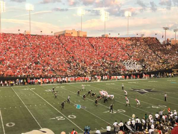 Vanderbilt Stadium, section: A, row: 33, seat: 43