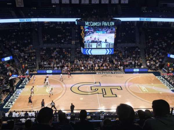 McCamish Pavilion, section: 201, row: 8, seat: 20