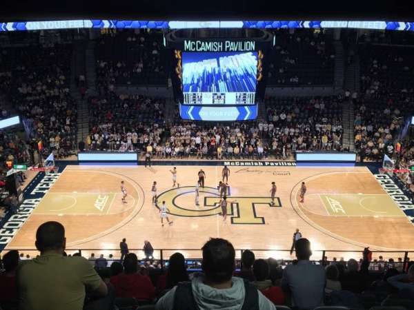 McCamish Pavilion, section: 201, row: 8, seat: 9