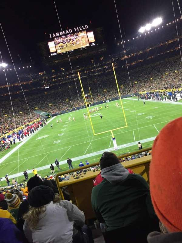 Lambeau Field, section: 100, row: 34, seat: 19