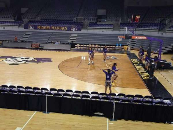 Williams Arena at Minges Coliseum, section: 206, row: A, seat: 3