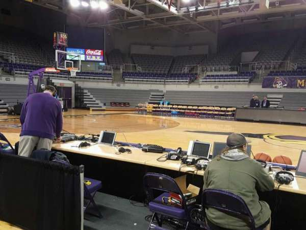 Williams Arena at Minges Coliseum, section: 106, row: 1, seat: 8