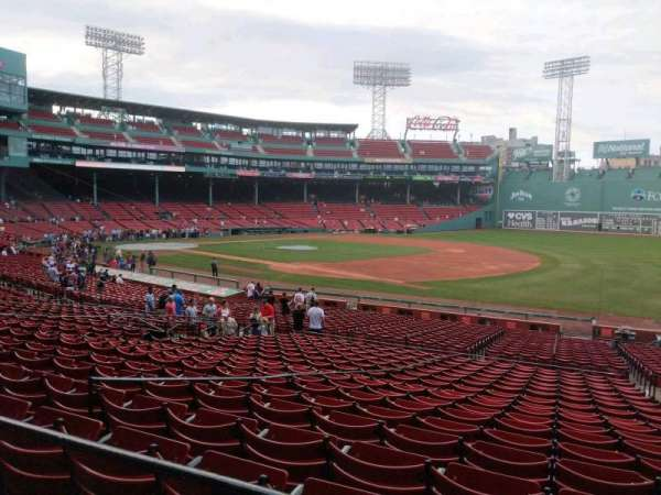 Fenway Park, section: Grandstand 12, row: 2, seat: 4