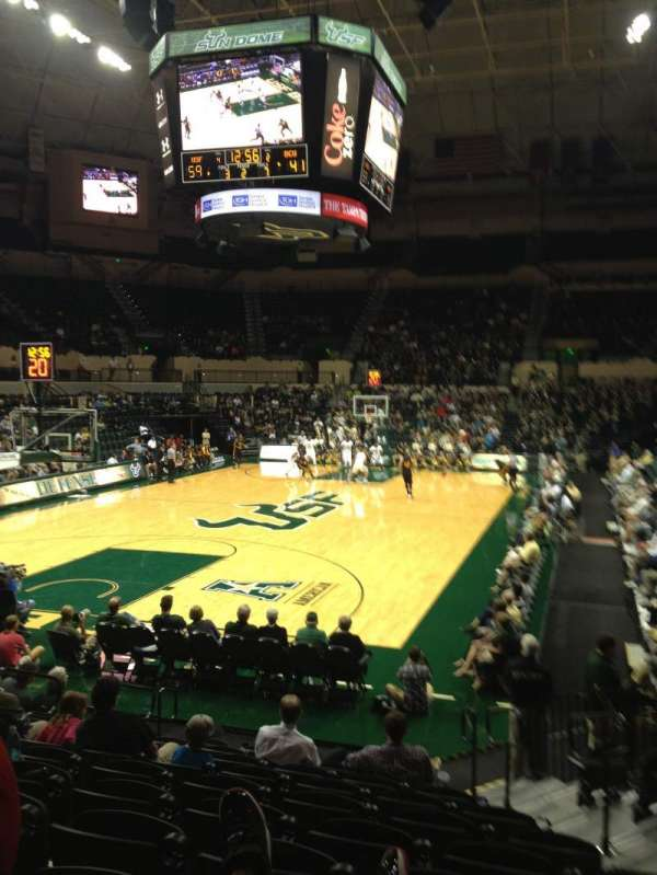 Yuengling Center, section: 108, row: E, seat: 5, 6, 7, 8