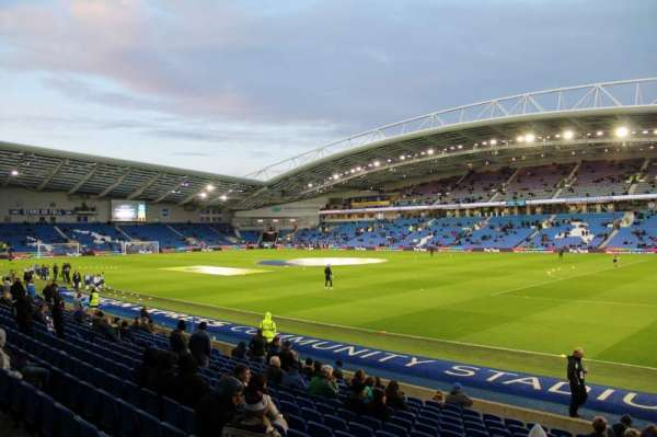 American Express Community Stadium, section: W1A, row: O, seat: 10