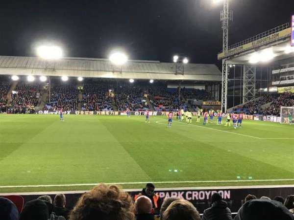 Selhurst Park, section: U, row: 9, seat: 80